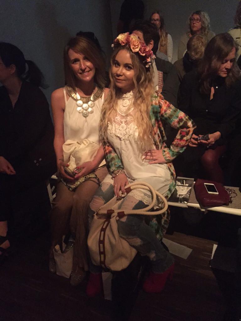 Anne Kluge und Nadine Trompka in der Front Row bei Isabel Vollrath Mercedes-Benz Fashion Week SS 2016