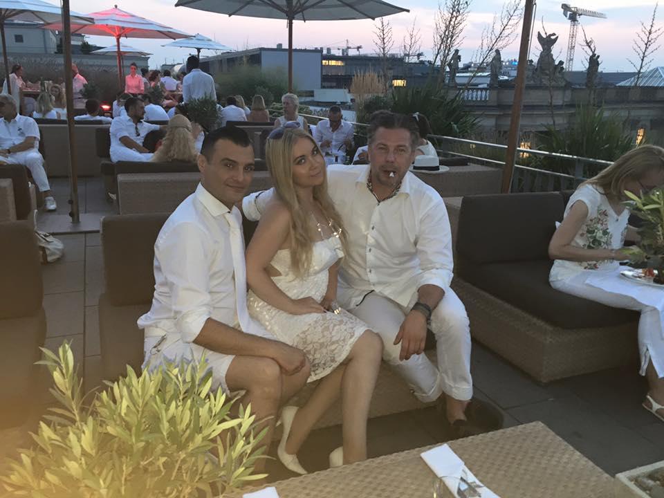 Dieter Padar, Nadine Trompka, Henri Pelz bei der White Night des Cigarrenmagazins
