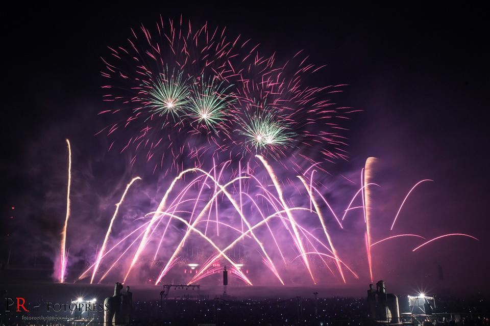 Feuerwerk des Teams aus Mexiko bei der Pyronale 2015