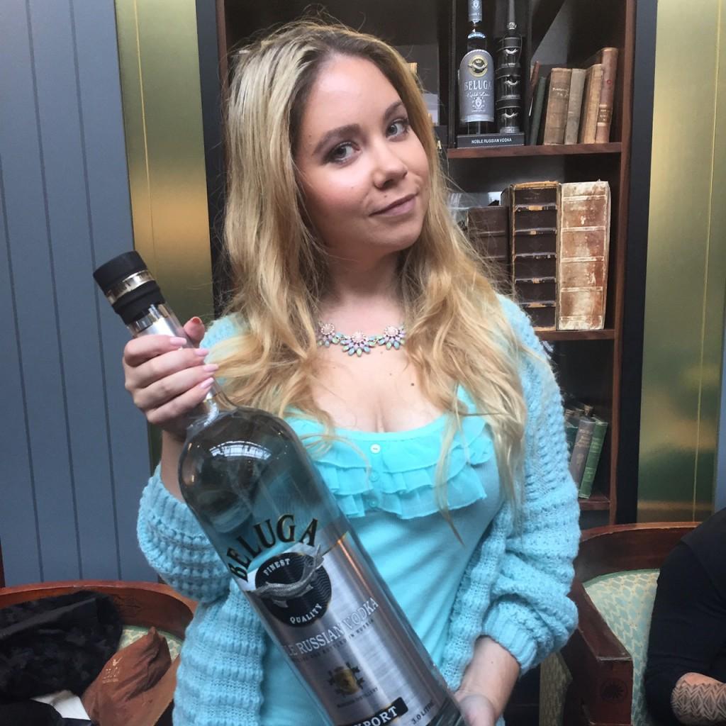 Nadine Trompka bei Beluga Vodka auf der Bar Convent Berlin